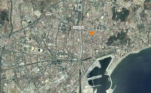 Figura 1. Situación de la parcela en la ciudad de Málaga. Fuente: EPSA.
