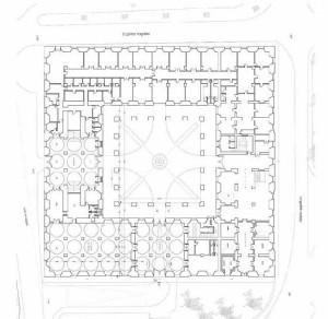 Fig.2- Palacio de la Aduana.  Estado actual. Planta baja. Año 2005
