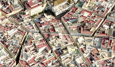 Figura 1: Vista aérea Plaza de San Francisco. Cádiz