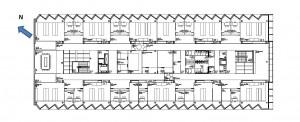 Figura 1. Planta tipo. (Efecto dentado en el diseño de huecos para reorientar los huecos en fachadas Norte-Este y Sur-Oeste.)