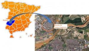 """Figura 1 Situación Barrio de """"Santa Engracia"""" (Badajoz, España)"""