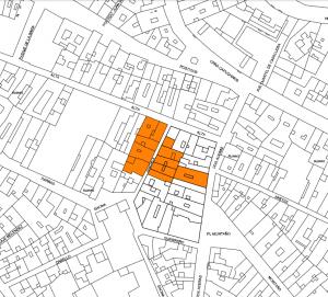 Figura2. Localización de la superficie de actuación, centro histórico de Málaga. Fuente: EPSA.