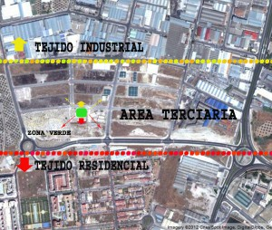 Imagen 1: Bandas de tejido urbano