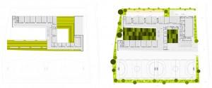 Figura 3. Planta alta y  planta baja del proyecto.