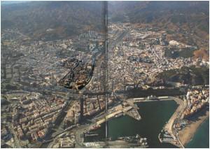 Imagen 2. Centro urbano de la ciudad con la zona objeto de estudio en el centro de la imagen. Fuente: PGOU MÁLAGA 2011.