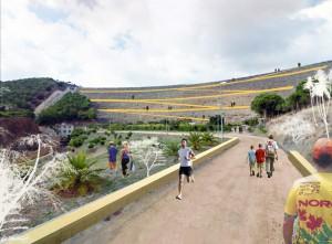 Fotomontaje final del parque y conexión con la Presa del Limonero