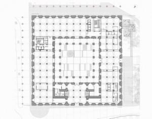 Fig.15.-Planta baja. Proyecto de rehabilitación  de la Aduana para Museo de Málaga. Año 2012