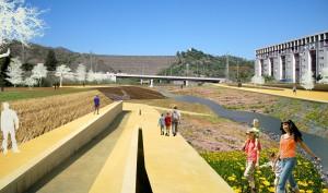 Fotomontaje de la propuesta desde el Puente de Gounod
