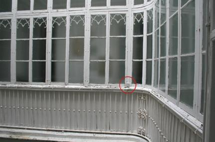 Figura 2: Localización de sensor en patio