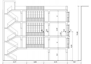 Figura 3: Sección del edificio.
