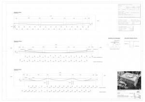 Fig.16- Secciones de forjados postesados.  Planos de proyecto.
