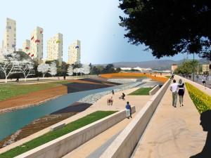 """Vista desde la Avenida de Jorge Silvela hacia el """"Parque de las Energías"""""""