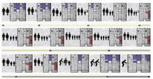 Figura 5. Una tipología estándar de doble orientación con núcleo central que sirve a dos viviendas, generando unas pseudo-medianeras entre las diferentes unidades, el cual no permite variabilidad a lo largo de la vida y evolución de las familias, generando espacios sub o sobre ocupados.