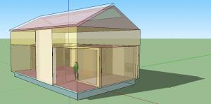 Figure 7: Edificio Low3 generado usando Google SketchUp y OpenStudio