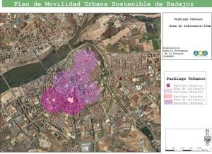 Figura 9: Parkings existentes en la ciudad de Badajoz.