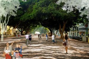 Propuesta de peatonalización de la Alameda Principal