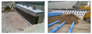 Figura 4. Preparación de tubos geotérmicos en obra.