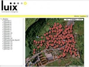 Captura de imagen del software de control remoto del sistema de ii LUIX en Isaba