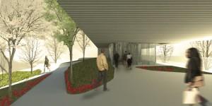Imagen 10: Paseo por cubierta de planta baja. Imagen del concurso