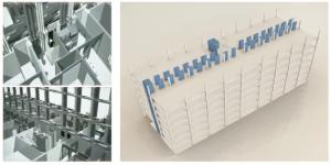 Figura 11. La estructura deberá ser diáfana y ordenada, con luces de entre 6x6m y 8x8m.