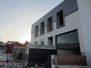 Imagen de la ejecución de las obras del edificio