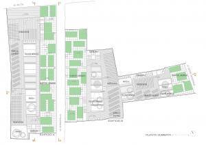 Figura 19. Huertos urbanos en cubierta, con más del 20% de ocupación. Elaboración propia.