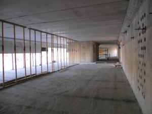 Interior de la Baja. Forjado planta 1º acabado