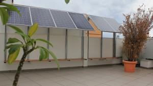 Imagen del campo fotovoltaico instalado