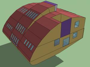 Figura 29.  Sección huecos fachadas laterales