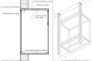 Figura 31. Sección huecos fachadas laterales