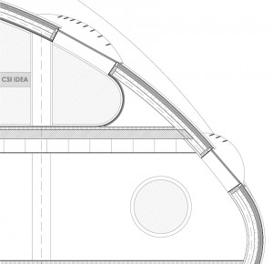 Figura 34.Sección de huecos noreste en cubierta