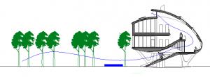 Figura 35. Sección longitudinal. Ventilación nocturna