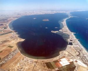 Figura 1: Vista aérea de La Manga del Mar Menor. Murcia.