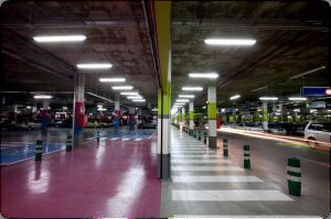 Figura 2: Vista del aparcamiento subterráneo objeto de estudio
