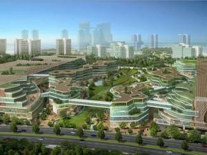 """Figura 3 - Imagen de la """"Tianjin Eco-City"""" en China. La ciudad tiene prevista una """"start up"""" para finales de 2013."""
