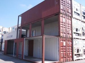 Fig. 3. Imágenes de los contenedores en transformación en la factoría de Algeciras