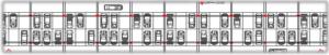 Figura 3: Distribución en planta del aparcamiento