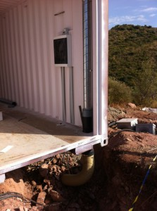 Fig. 7. Instalación de ventilación a través de colector geotérmico enterrado