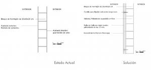 Figura 9: Solución para mejorar la eficiencia energética del edificio, elaborado por los alumnos de HyD 2012. Bloques de Viviendas de Parque Alcosa